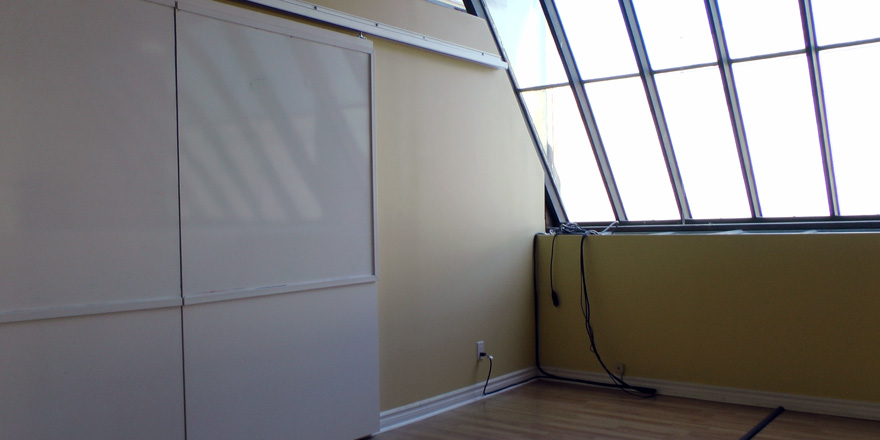 Boardroom with roll-away whiteboard